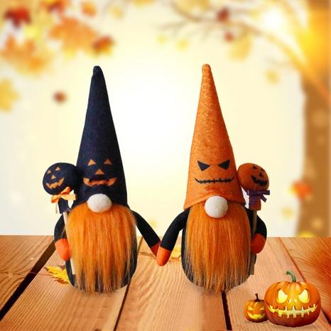 Halloween Pumpkin Dwarf Faceless Doll Decoration Wholesale Nihaojewelry NHGAL411455's discount tags