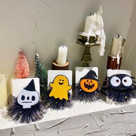 new Halloween pumpkin ghost spider net yarn hairpin wholesale Nihaojewelry  NHGAL411457's discount tags