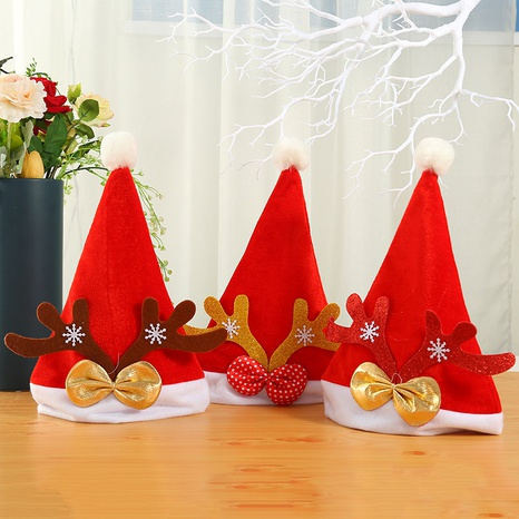 vintage red gold velvet thick party antler hats Christmas ornaments wholesale nihaojewelry NHGAL411459's discount tags