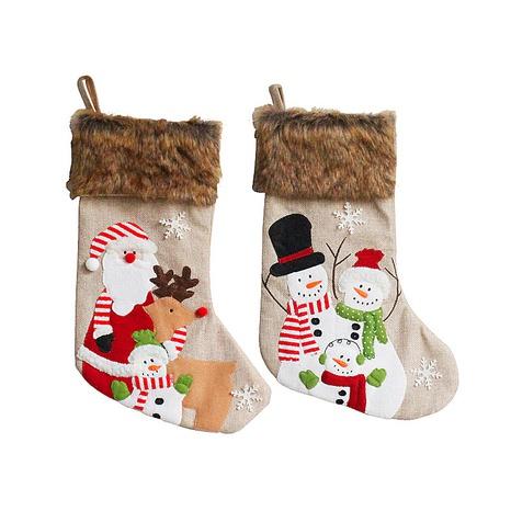 Muñeco de nieve de felpa vintage Elk Candy Bordado Calcetines Colgante de Navidad Venta al por mayor Nihaojewelry NHGAL411462's discount tags