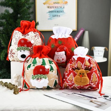 La bolsa de asas del regalo de la impresión tridimensional del vintage adornos de Navidad vende al por mayor Nihaojewelry NHGAL411463's discount tags