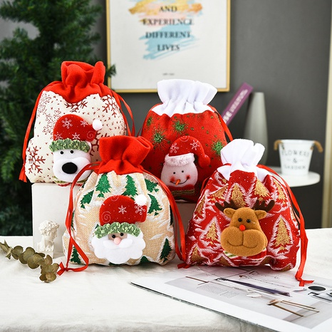 Vintage Three-dimensional Printing Gift Tote Bag Christmas Ornaments Wholesale Nihaojewelry NHGAL411463's discount tags