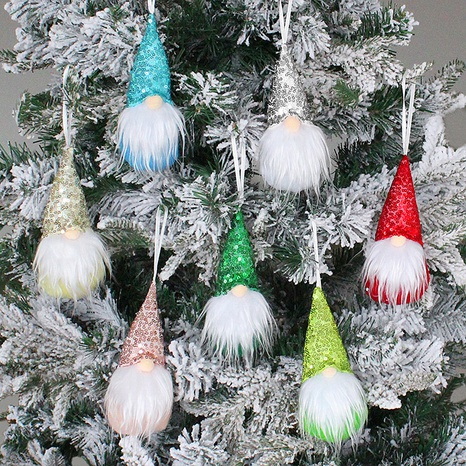 Christmas Pendant Tree Decoration Small Sequin Faceless Gnome Doll Wholesale Nihaojewelry NHGAL411464's discount tags
