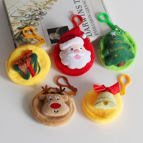 Cartoon Christmas Pendant Santa Claus Tree Portable Coin Key Purse Wholesale Nihaojewelry NHGAL411466's discount tags