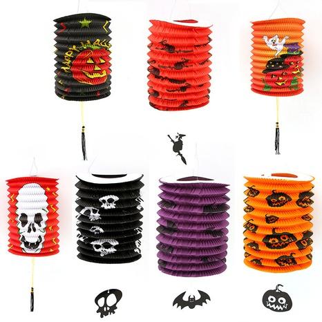 Halloween pumpkin paper lantern decoration wholesale Nihaojewelry NHGAL411468's discount tags