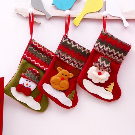 Santa Claus socks candy gift bags Christmas decorations wholesale nihaojewelry NHGAL411469's discount tags