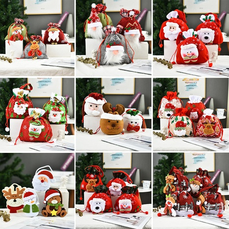 Creative Christmas Decoration Three-dimensional Doll Candy Tote Bag Wholesale Nihaojewelry NHGAL411472's discount tags