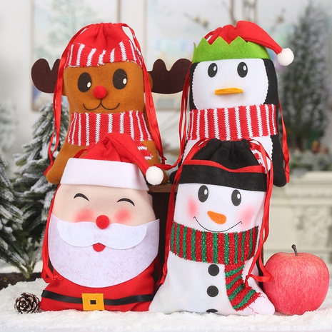 cartoon children's bundle pocket candy tote bag Christmas pendant wholesale nihaojewelry NHGAL411473's discount tags