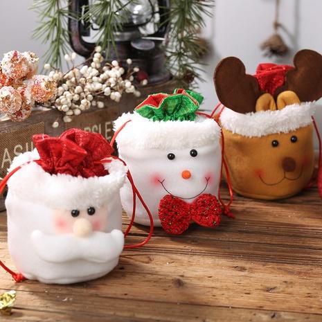 Nuevas decoraciones navideñas Bolsa de regalo infantil con cordón de lino al por mayor Nihaojewelry NHGAL411475's discount tags