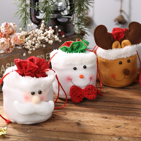 New Christmas Decorations Linen Drawstring Child Gift Bag Wholesale Nihaojewelry  NHGAL411475's discount tags