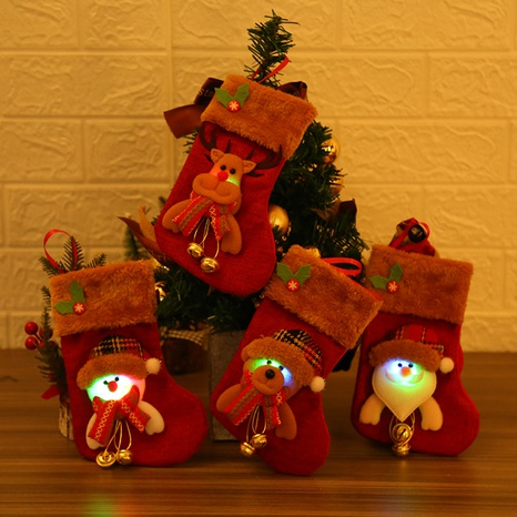 New Christmas ornaments LED luminous Christmas socks wholesale Nihaojewelry  NHGAL411479's discount tags
