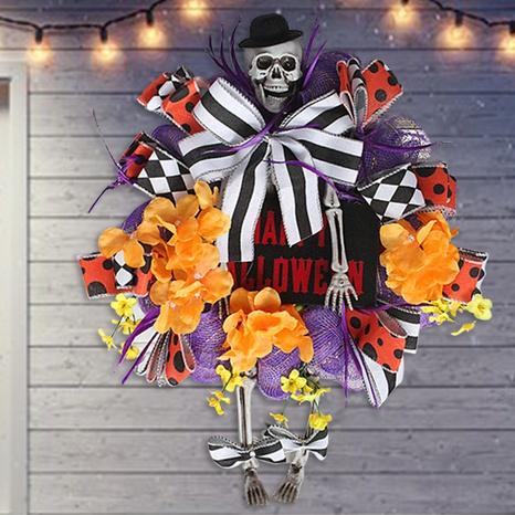 Halloween Skeleton Simulation Flower Door Hanging Wholesale Nihaojewelry  NHGAL411483's discount tags