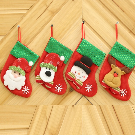 Creative cartoon sequin Christmas socks candy bag wholesale Nihaojewelry  NHGAL411487's discount tags
