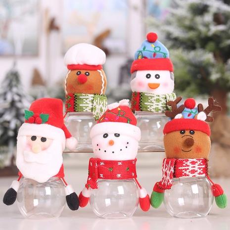 Nuevo tarro de caramelo de muñeca de plástico transparente creativo de Navidad al por mayor Nihaojewelry NHGAL411490's discount tags
