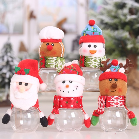 New creative Christmas transparent plastic doll candy jar wholesale Nihaojewelry  NHGAL411490's discount tags
