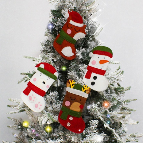 Christmas Snowman Fawn Christmas Tree Pendant Candy Bag Wholesale Nihaojewelry  NHGAL411489's discount tags