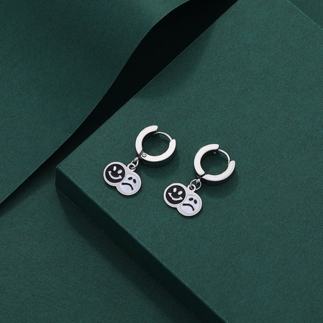 new fashion cute smiley alloy earrings wholesale Nihaojewelry  NHYIA412023's discount tags