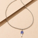 wholesale jewelry cartoon cute rabbit pattern key pendant necklace nihaojewelry  NHYIA412026