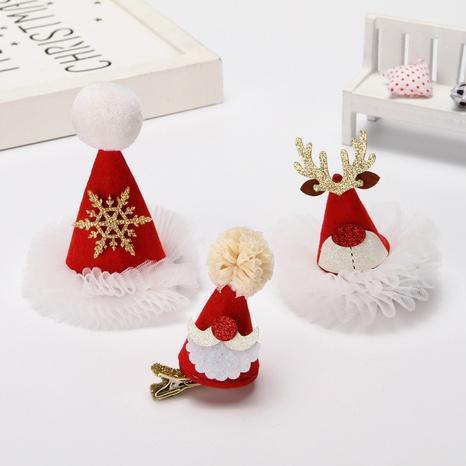 Navidad rojo con lentejuelas pequeño sombrero velo horquilla al por mayor Nihaojewelry NHGAL412150's discount tags