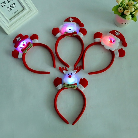 moda levante una mano pequeña con luces Diadema navideña al por mayor Nihaojewelry NHGAL412151's discount tags