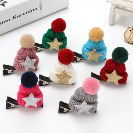 Cute Christmas wool hat hairpin wholesale Nihaojewelry  NHGAL412152's discount tags