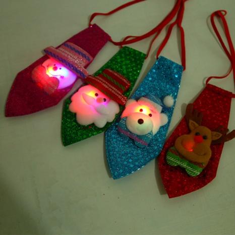 Christmas creative luminous children tie wholesale Nihaojewelry  NHGAL412154's discount tags