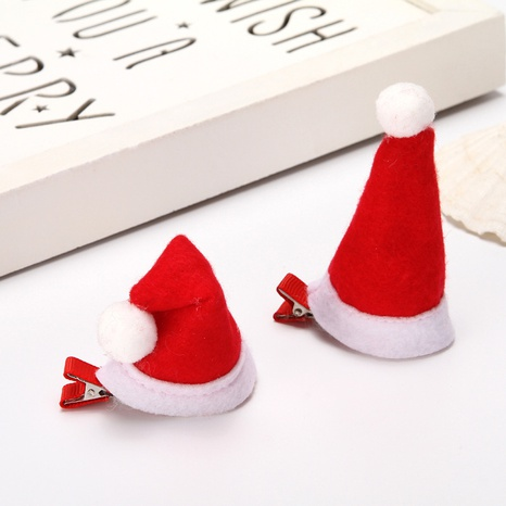 Christmas red small hat children's hairpin wholesale Nihaojewelry  NHGAL412155's discount tags
