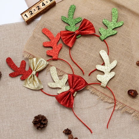 moda arco con lentejuelas asta Navidad diadema al por mayor Nihaojewelry NHGAL412156's discount tags