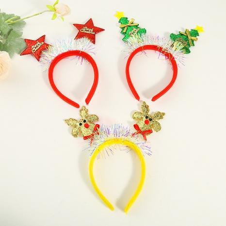 Christma sequined snowflake big antler headband wholesale Nihaojewelry  NHGAL412157's discount tags