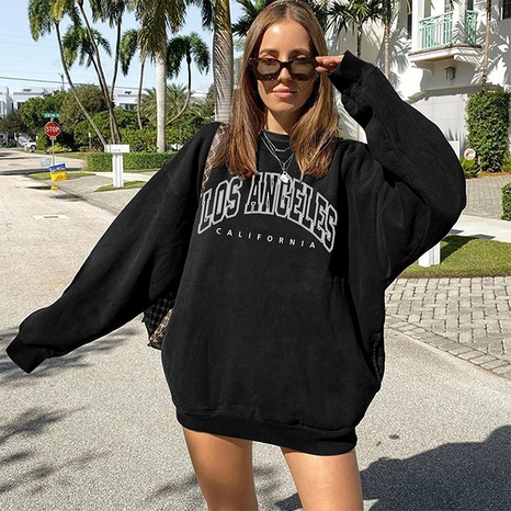 fashion letter printing round neck long-sleeved sweater wholesale Nihaojewelry NHWU412737's discount tags