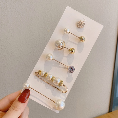 Pearl trouser waist adjustment pin set wholesale Nihaojewelry NHQYF412658's discount tags