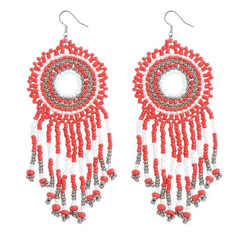 Bohemian colored handmade beads earrings wholesale Nihaojewelry NHJQ412694's discount tags