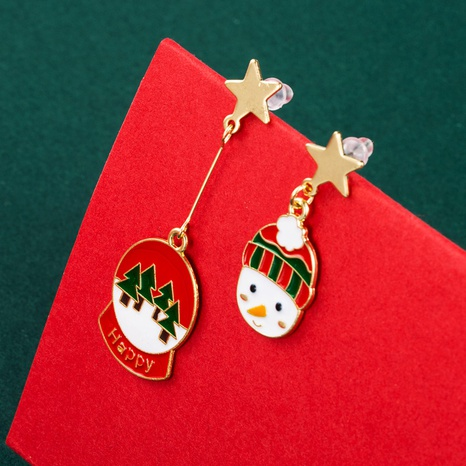 Christmas Series Hats Boots Glass Ball Alloy Earrings Wholesale Nihaojewelry NHLN412706's discount tags