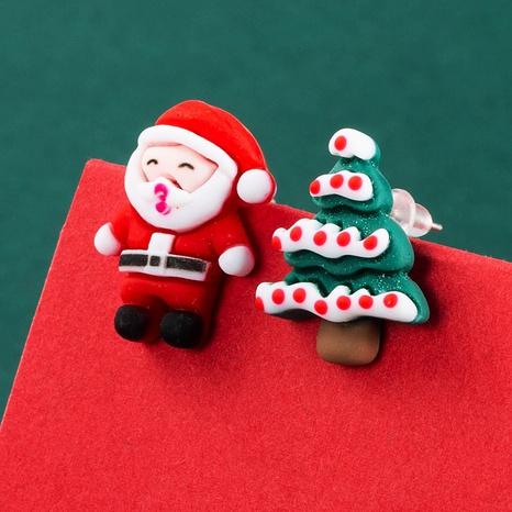 Christmas Tree Snowman Earrings Wholesale Nihaojewelry NHLN412708's discount tags