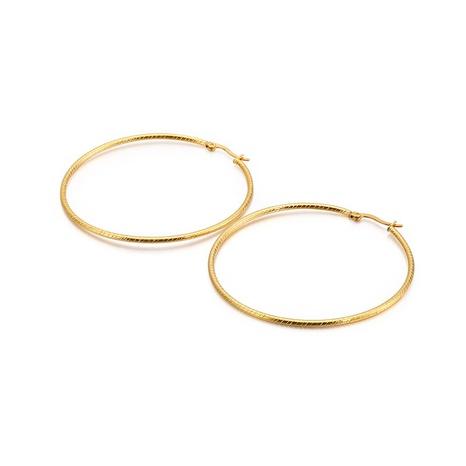 simple stainless steel hoop earrings wholesale Nihaojewelry NHKAL412274's discount tags