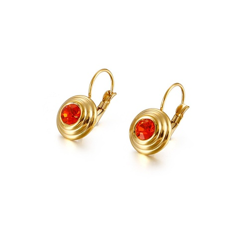simple mosquito coil shape multicolor zircon earrings wholesale Nihaojewelry NHKAL412275's discount tags
