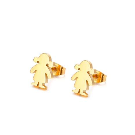 simple glossy cartoon little girl earrings wholesale Nihaojewelry NHKAL412281's discount tags