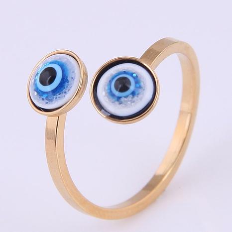 anillo de apertura de ojo de diablo de acero inoxidable simple al por mayor Nihaojewelry NHSC412850's discount tags