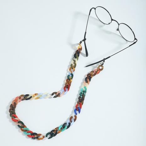Farbe Acryl Spleißkette Retro-Brille Kette Großhandel Schmuck Nihaojewelry NHJQ396812's discount tags