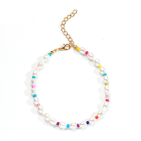 Wholesale Bohemian Baroque Pearl Color Beaded Anklet Nihaojewelry  NHMO396497's discount tags