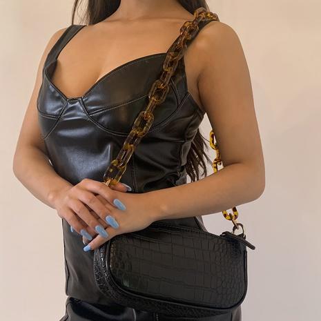 Großhandel Schmuck einfache Acryl Leopardenmuster Tasche Kette nihaojewelry NHXR397020's discount tags