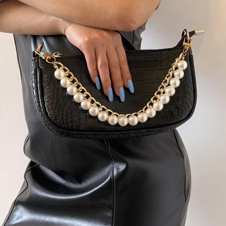 Großhandel Mode Aluminiumkette Perlen Taschenkette Nihaojewelry NHXR397044's discount tags