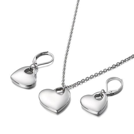 fashion hollow heart-shaped necklace earrings set wholesale Nihaojewelry  NHKAL412919's discount tags