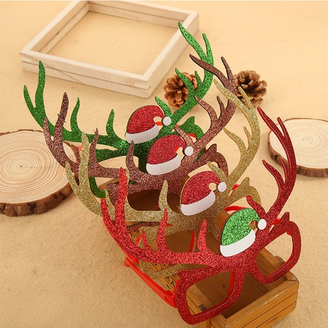 Christmas children's elk glasses frame wholesale Nihaojewelry NHGAL413200's discount tags