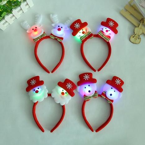 Christmas luminous Santa Claus lights headband wholesale Nihaojewelry NHGAL413201's discount tags