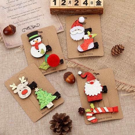 cute Christmas elk tree suit hairpin wholesale Nihaojewelry NHGAL413204's discount tags
