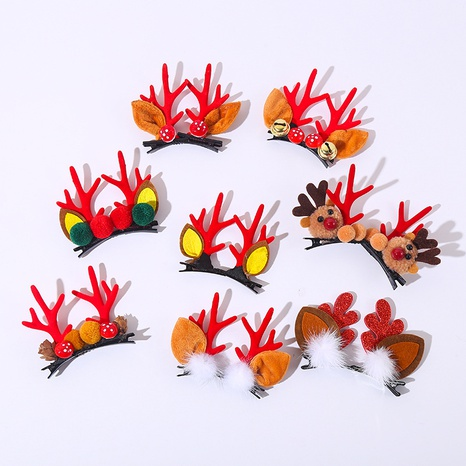 Christmas antlers children's hairpin wholesale Nihaojewelry NHGAL413211's discount tags