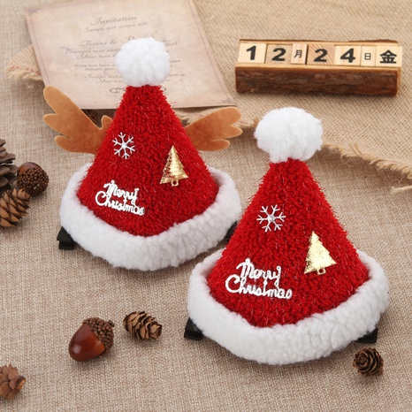 Christmas plush hat hairpin wholesale Nihaojewelry NHGAL413212's discount tags