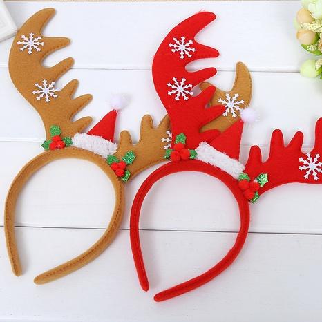 Christmas flannel big antler headband wholesale Nihaojewelry NHGAL413213's discount tags