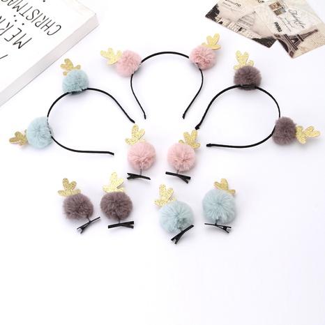 Christmas antlers headband hairpin wholesale Nihaojewelry NHGAL413214's discount tags